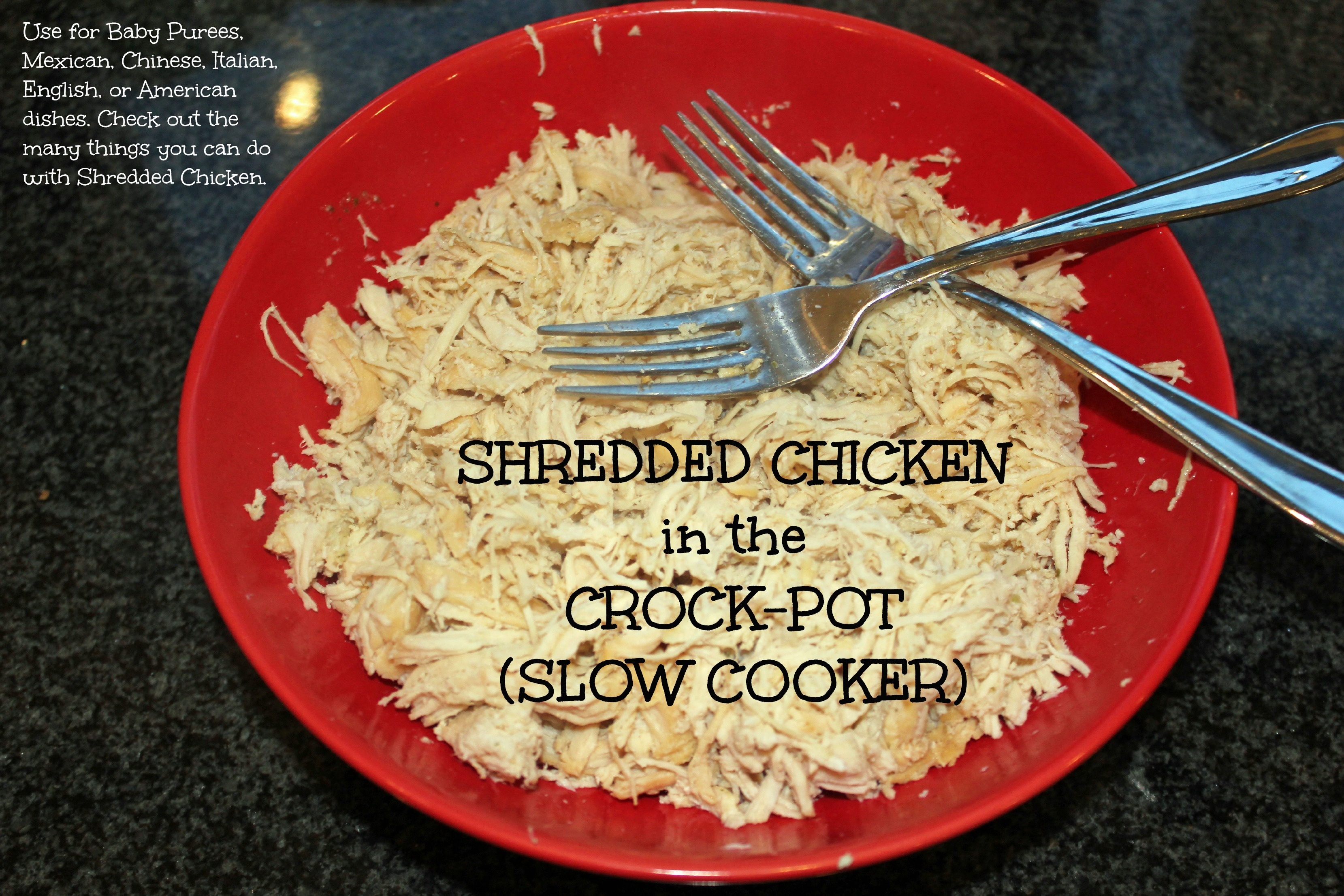 How to make crockpot chicken into a plethora of meals