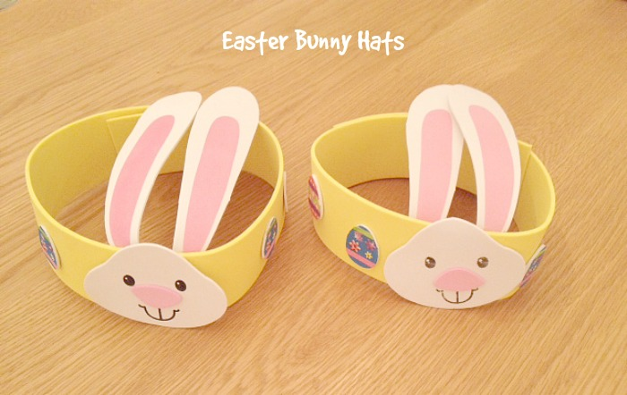 Easter bunny hats & no messy play
