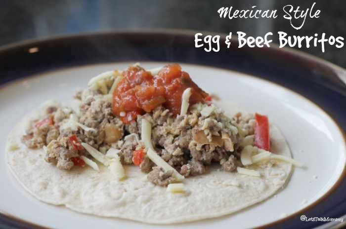 Mexican Style Egg & Beef Burritos Recipe