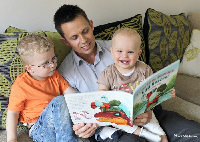 Three Little Dinosaurs Egg Rescue Book Review: {Time with Daddy}