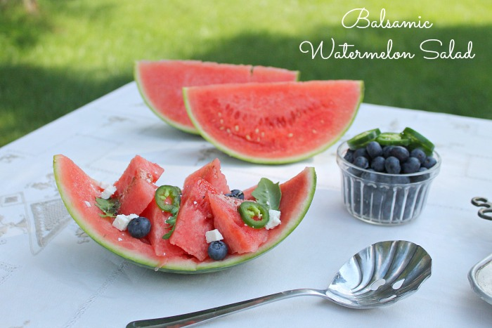 Balsamic Watermelon Salad