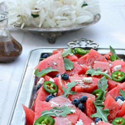 Balsamic Watermelon Salad Recipe