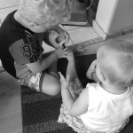 toddlers helping out