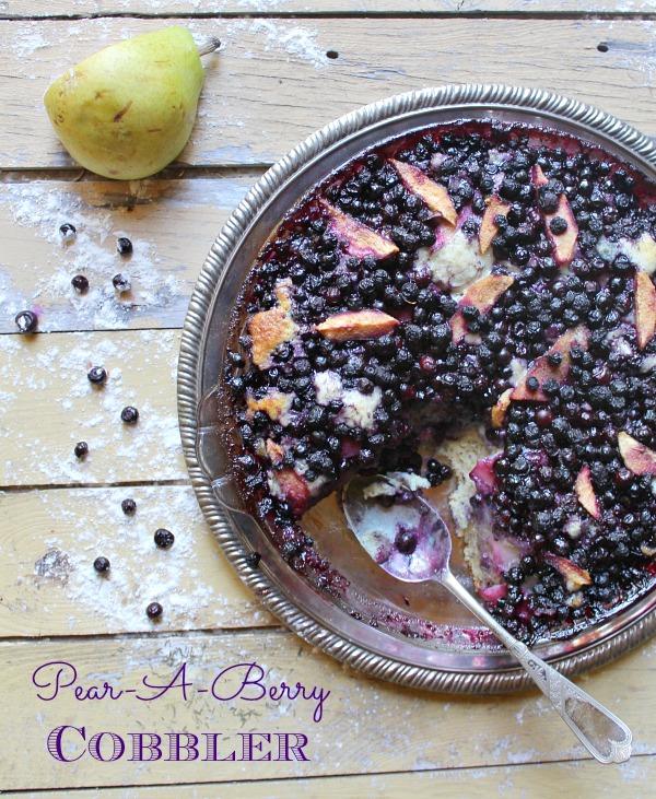 Pear & Huckleberry Cobbler