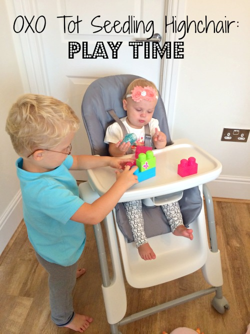 A new dinner time routine with our Oxo Tot Seedling Highchair
