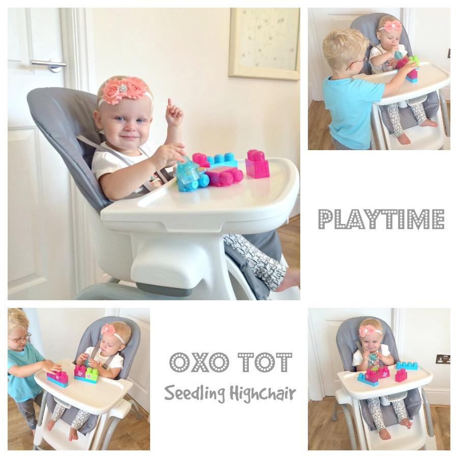 Oxo Tot Seedling Highchair Playtime