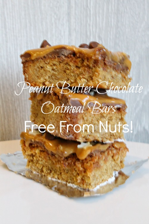 Peanut Butter Chocolate Oatmeal Bars Free From Nuts