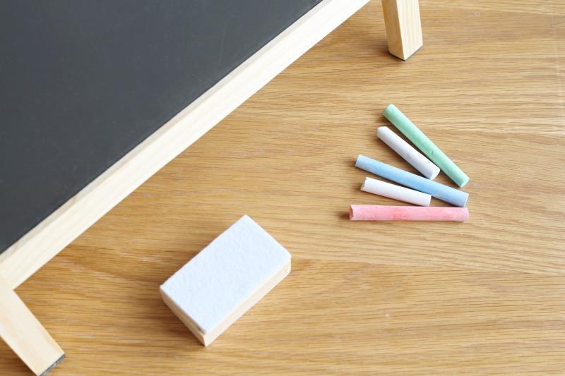 whiteboard chalkboard table easel chalk