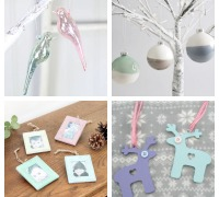 pastel christmas decorations