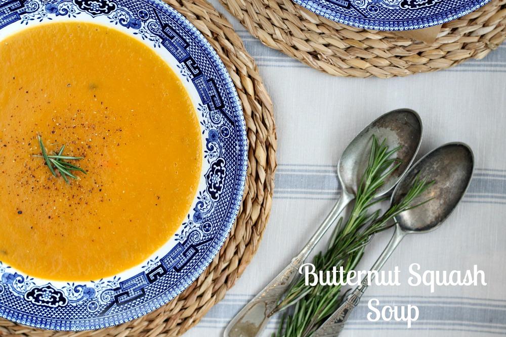 Butternut Squash Soup Recipe Food Photography