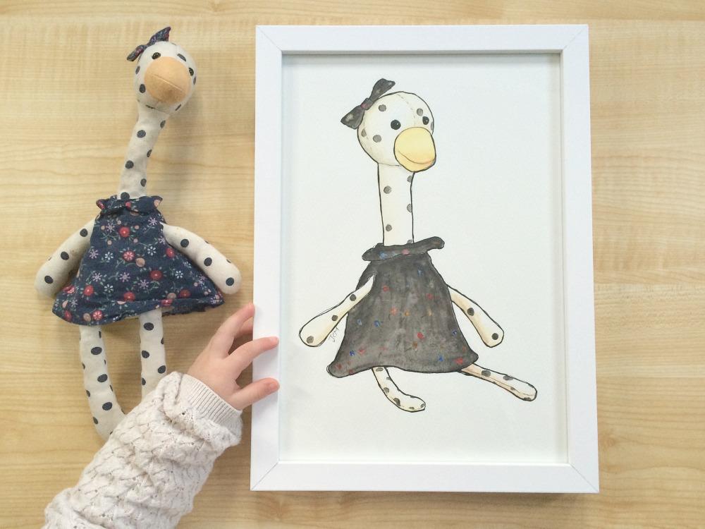Hand Drawn Child's Favorite Toy Portrait