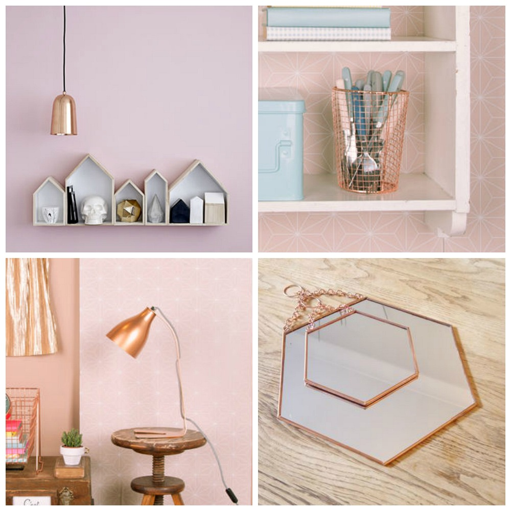 Girly Bedroom Accessories: Interiors // Copper Home Accessories