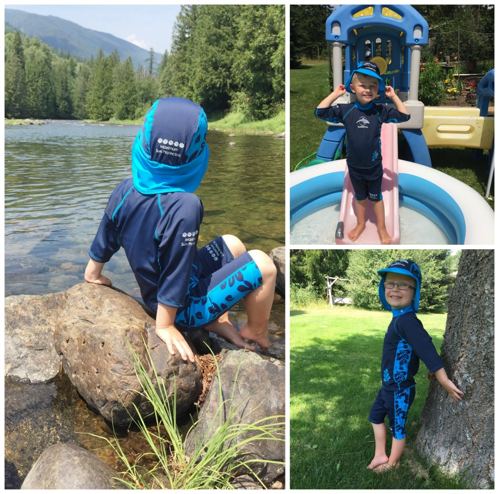 Konfidence Swimgear UV sun protection hats, shirts, shorts sun protection outfits for kids kids swimwear