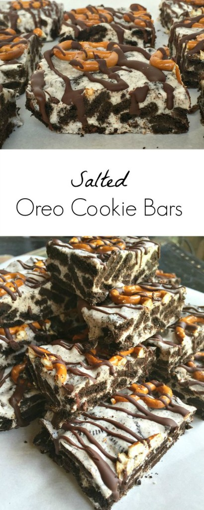 Salted Oreo Cookie Bars Recipe