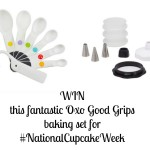 Win a Oxo Good Grips baking set measuring spoons silicone decorating bottle kit for National Cupcake Week