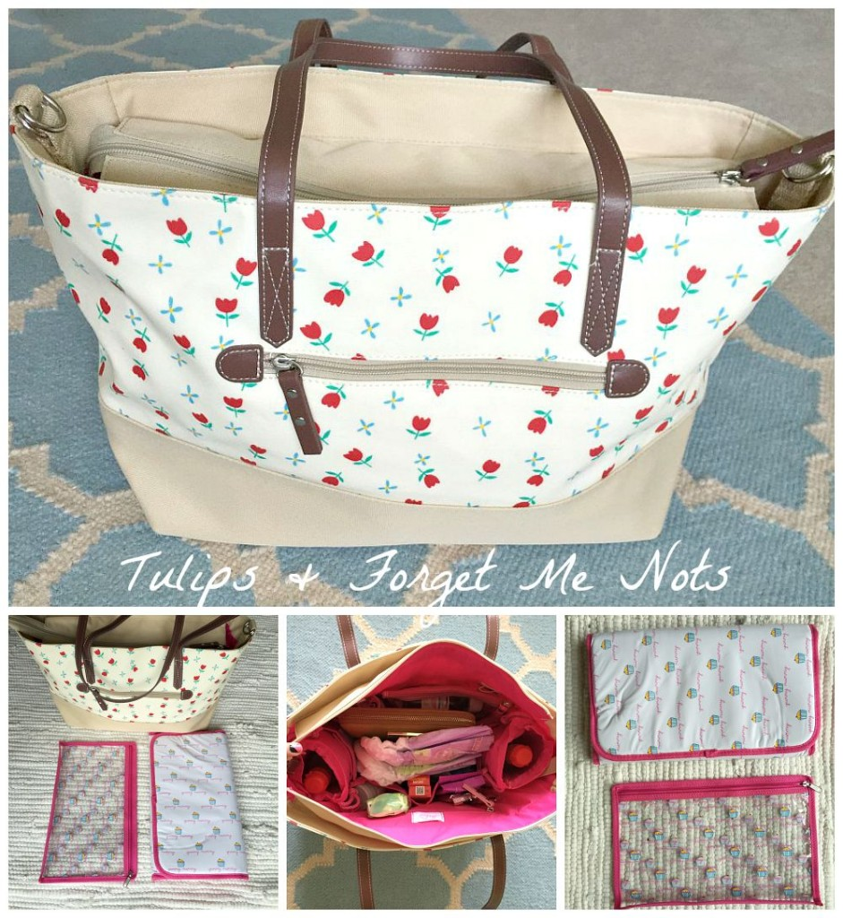 A Tulips and Forget Me Nots Pink Lining Tote for all occasions