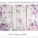Win these gorgeous Graham & Brown birds & butterflies canvases wall art