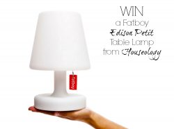 Monday's blog birthday giveaway Fatboy Edison Petit Table Lamp from Houseology comp