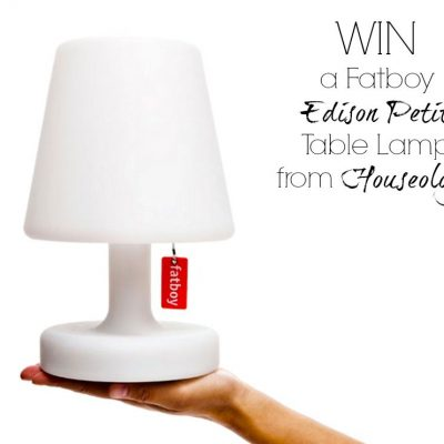 Monday's Blog Birthday Giveaway: FatBoy Lamp
