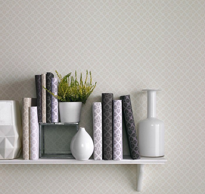 Graham and Brown wallpaper week Grey Damask Wallpaper calm feeling