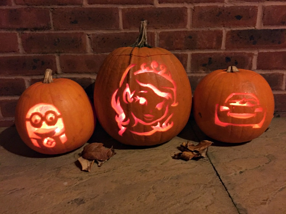 How to carve Lighting McQueen, Sofia the First, and Minion Pumpkin