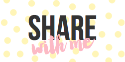 Come join the party with 'share with me'. A new linky to get to know more bloggers and enjoy their favorite post each week.