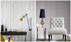 Graham & Brown Flock Wallpaper Industrial style home decor
