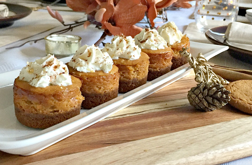 Thanksgiving Mini Pumpkin Cheesecake Recipe baking