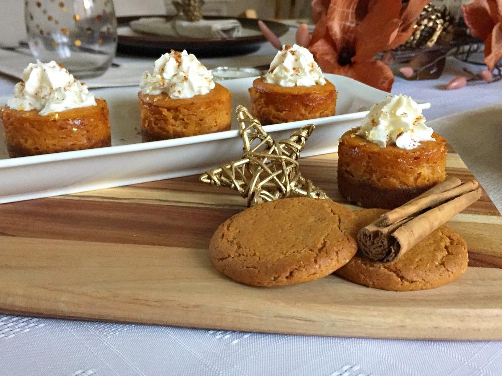 Mini pumpkin cheesecake bites - Drizzle Me Skinny!Drizzle ...  |Mini Pumpkin Cheesecake Bites