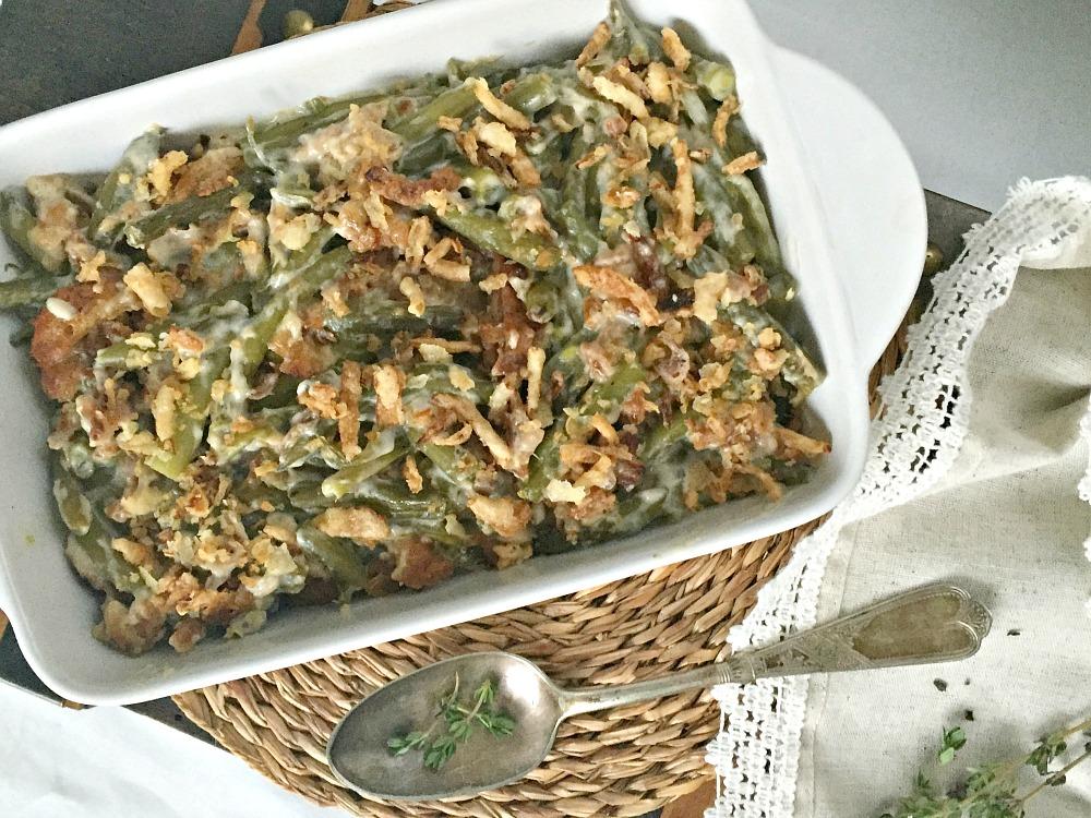 Green Bean Casserole Recipe Christmas Dinner or Thanksgiving