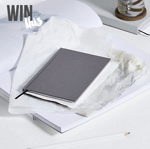 Win The White Company 46 notebook charcoal Share With Me blog hop