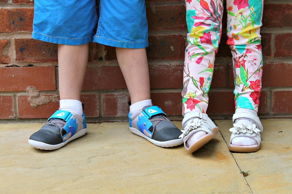 My kids kicking with Bobux shoes Britmums Live Sponsor