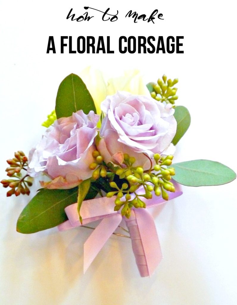 how to make a floral corsage