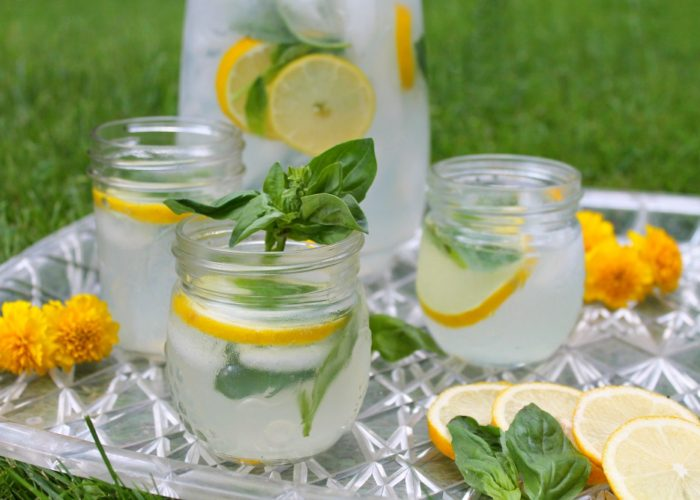 Gin Lemonade & Basil – Summer Cocktails