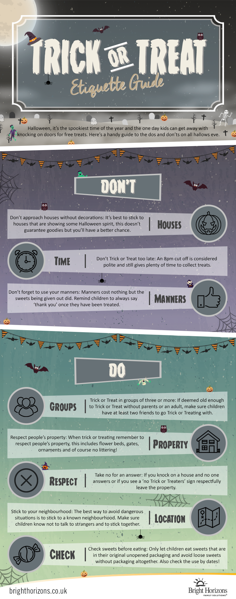 Stay safe this Halloween Do's and Don't of Trick or Treating
