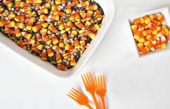 Candy Corn Halloween Brownies