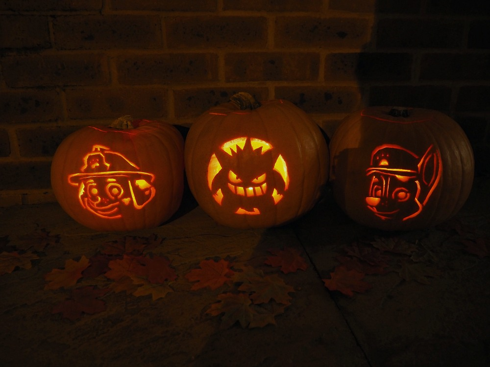 How to Carve Gengar Pokemon and Paw Patrol Pumpkins easy templates