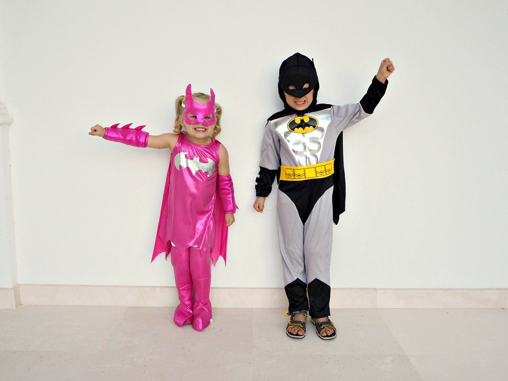 Halloween 2016 Batman and Batgirl Costumes