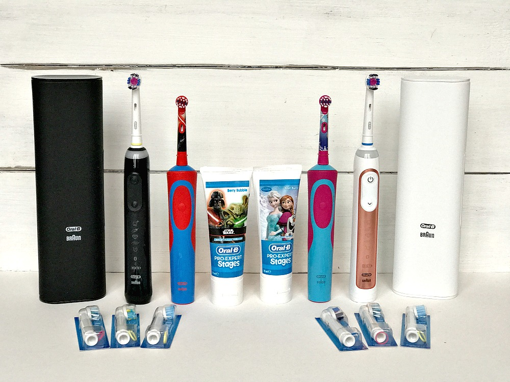 Family Oral B toothbrushes