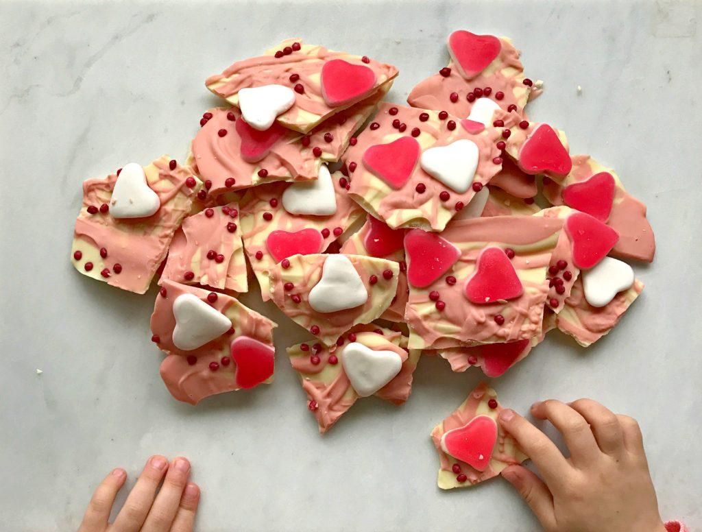 Valentine's Day Treats Easy Chocolate Bark recipe
