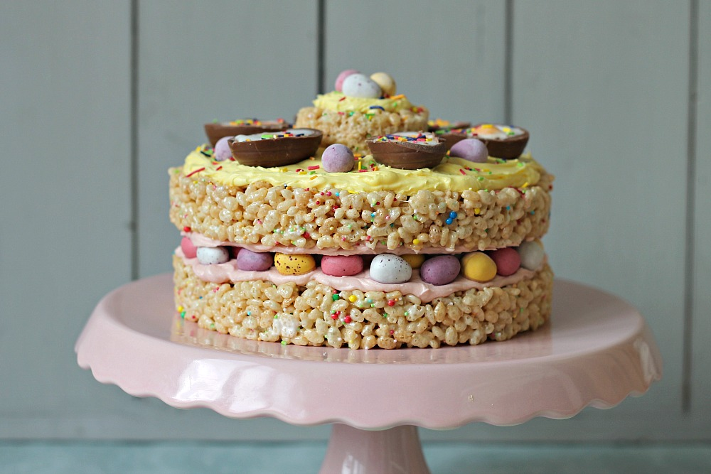 Easter Egg Layered Cake Recipe Dishmaps
