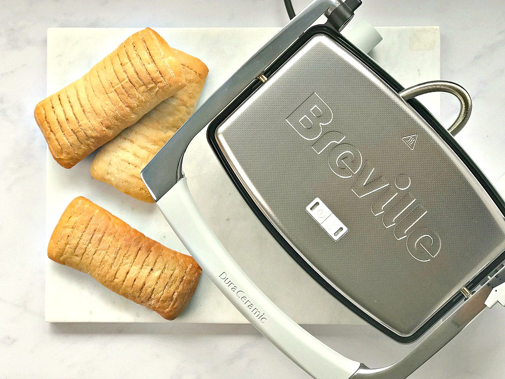 Breville 3 Slice DuraCeramic Sandwich Press Mexican Taco Toasties for British Sandwich Week
