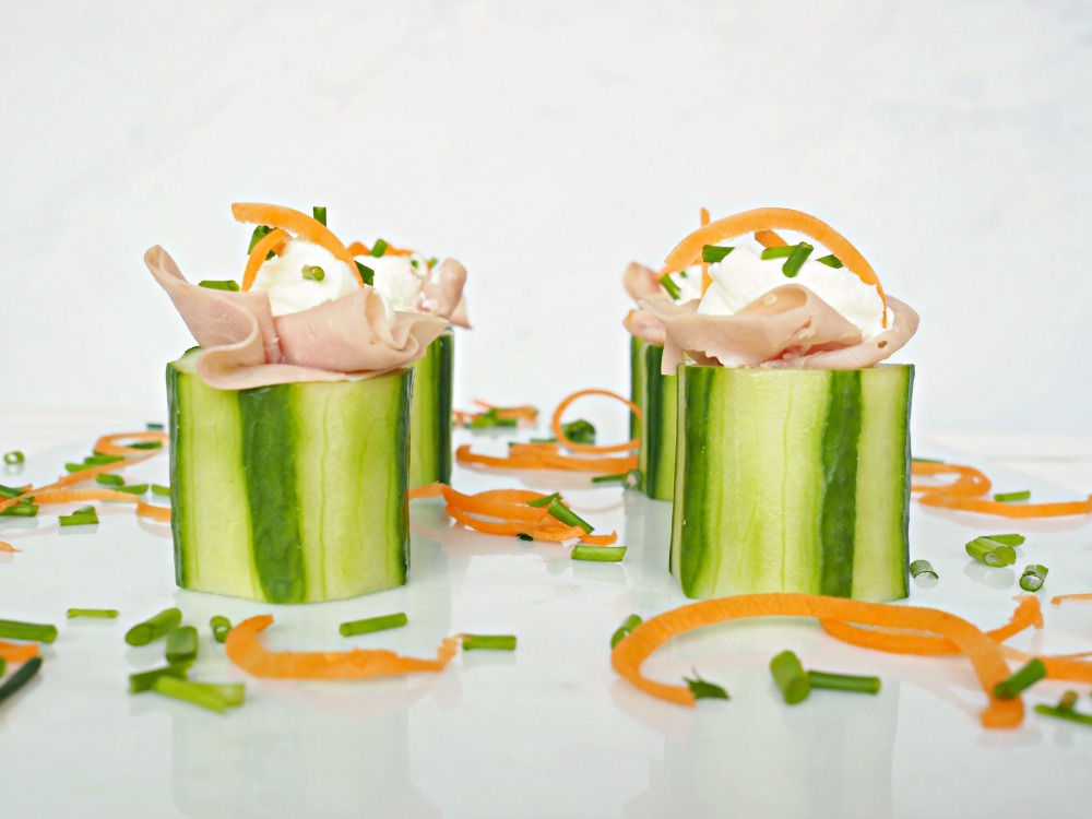 ham & cucumber snack bites nibbles party food for kids