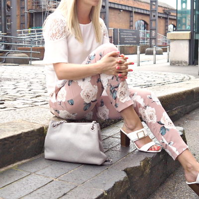 Ankle Grazer Floral Trousers