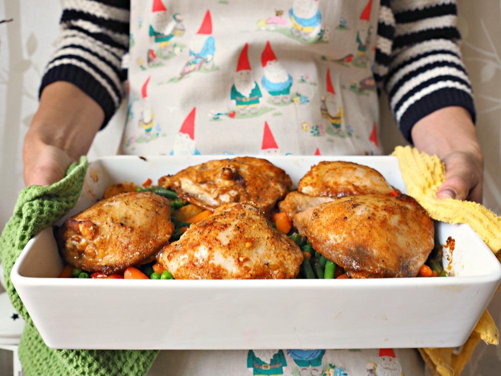 Rustic Chicken Casserole no food waste ingredients straight from frozen
