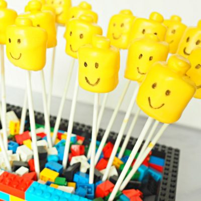 Kid's Birthday Party Lego Marshmallow Pops