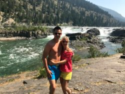 Kootenai Falls and Whitefish Montana weekend road trip America