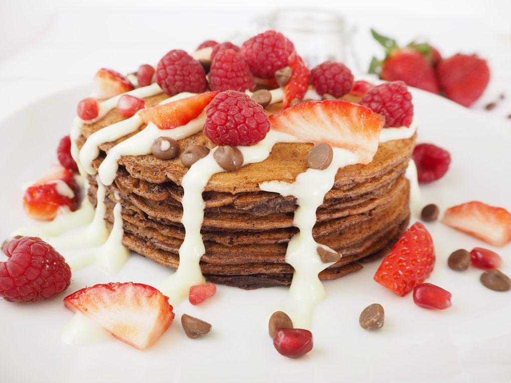 Berry Chocolate Pancakes recipe Pancake Day